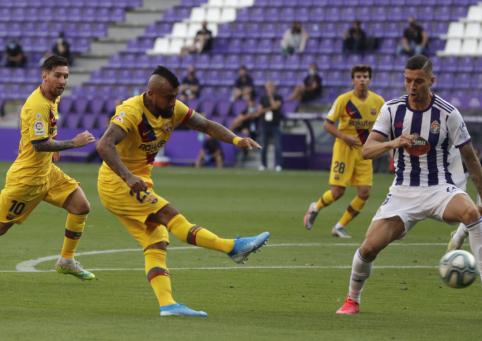 """A. Vidalio įvartis lėmė minimalią """"Barcos"""" pergalę"""