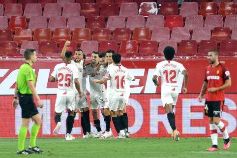 """""""Sevilla"""" susitvarkė su """"Mallorca"""", """"Valencia"""" patyrė netikėtą pralaimėjimą"""