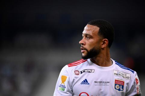 """M. Depay'us tiki """"Lyon"""" šansais dvikovoje su """"Juventus"""""""