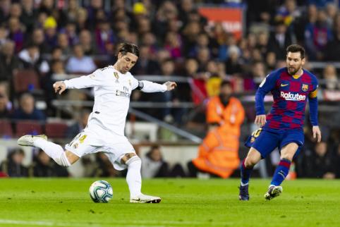 """S. Ramosas: """"Messi išvykimas būtų skaudus visam Ispanijos futbolui"""""""