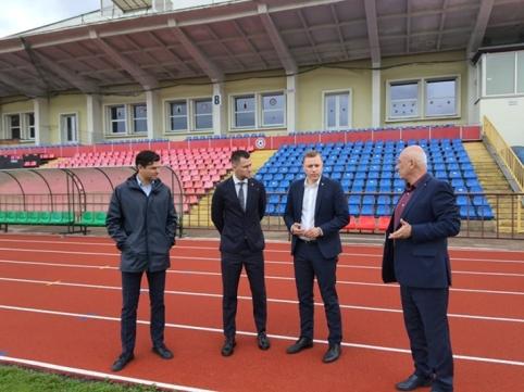 LFF vadovai turėjo oficialų vizitą Panevėžyje