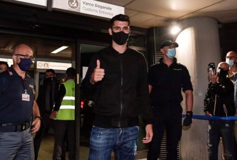 """""""Juventus"""" sulaukė pažįstamo veido – A. Morata jau atvyko į Turiną"""