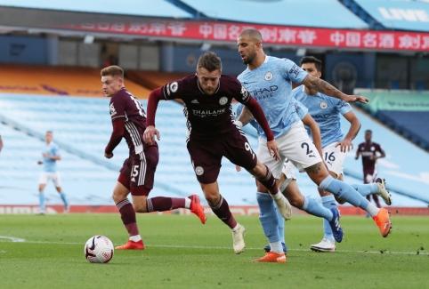 """J. Vardy vedama """"Leicester"""" ekipa užtikrintai įveikė """"Man City"""""""
