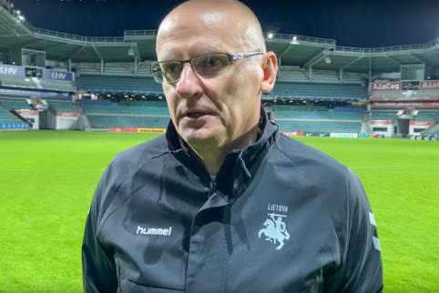 """V. Urbonas: """"Kiekvienose rungtynėse stengsimės kovoti dėl taškų"""""""