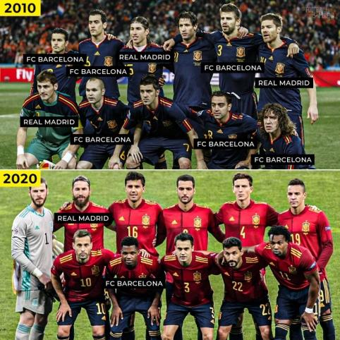 Be dviejų grandų žaidėjų likusi Ispanijos rinktinė
