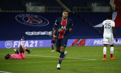 """PSG sutriuškino """"Dijon"""" futbolininkus"""