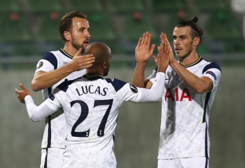 """""""Tottenham"""" ir """"Roma"""" iškovojo užtikrintas pergales Europos lygoje"""
