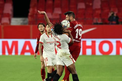 """""""Osasuną"""" palaužusi """"Sevilla"""" nutraukė trijų iš eilės pralaimėjimų seriją"""