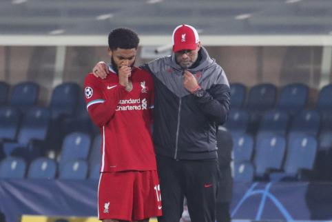 """""""Liverpool"""" bėdos tęsiasi: traumą patyrė dar vienas gynėjas"""