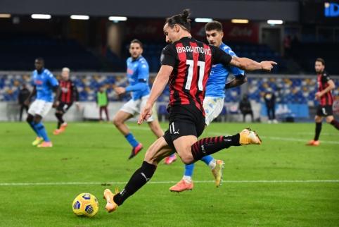 """Z. Ibrahimovičius atvedė """"AC Milan"""" į dar vieną pergalę Italijoje"""