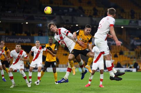 """""""Wolves"""" ir """"Southampton"""" pasidalino po tašką"""