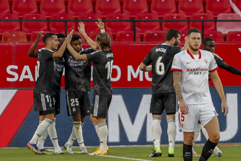 """""""Real"""" minimaliu skirtumu įveikė """"Sevilla"""""""