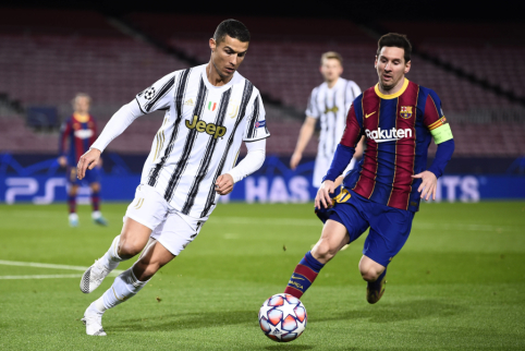 """J. Laporta brandina svajonę """"Barcoje"""" išvysti L. Messi ir C. Ronaldo"""