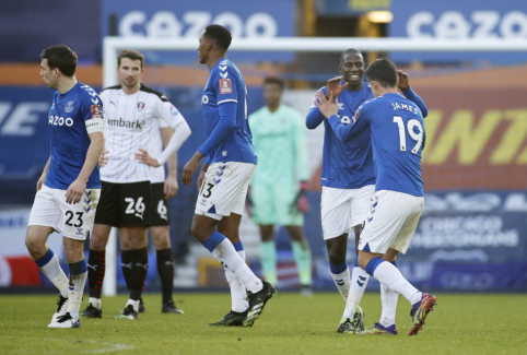 """""""Everton"""" tik per pratęsimą nukovė """"Championship"""" dugne esančią """"Rotherham"""""""