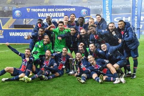 PSG triumfavo Prancūzijos Supertaurės finale