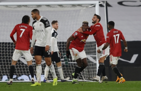 """Fantastiškas P. Pogba smūgis sugrąžino """"Man Utd"""" į """"Premier"""" lygos viršūnę"""