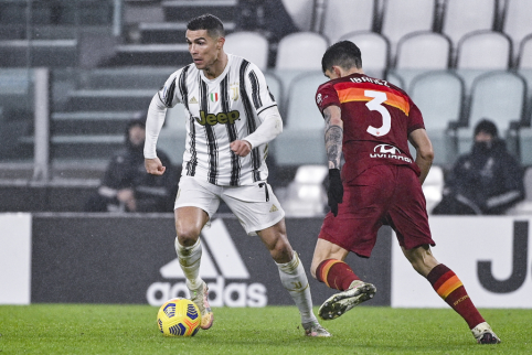 """""""Juventus"""" palaužė """"Roma"""" ir priartėjo prie """"Serie A"""" viršūnės"""