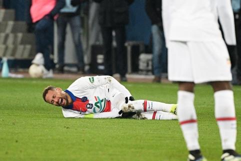 Prastos žinios PSG fanams: traumą patyrė Neymaras