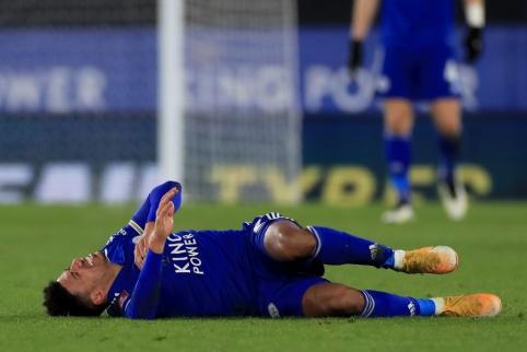 """Smūgis """"Leicester"""" ekipai: J. Justinas šį sezoną aikštėje, greičiausiai, nebepasirodys"""