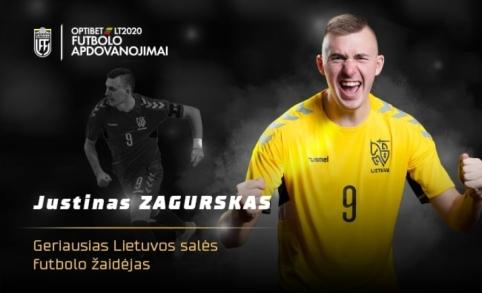 """Geriausiu Lietuvos salės futbolo žaidėju tapo rinktinės ir """"Vyčio"""" kapitonas J. Zagurskas"""