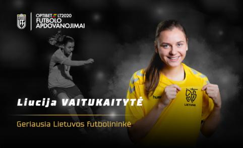 Geriausia Lietuvos futbolininke pirmą kartą karjeroje tapo L. Vaitukaitytė