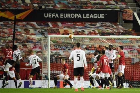 """EL: """"AC Milan"""" iš """"Old Traffordo"""" parsiveža rezultatyvias lygiąsias"""