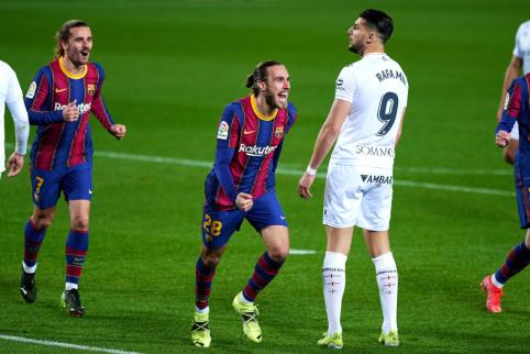 """Lygos autsaiderius nukovusi """"Barcelona"""" priartėjo prie """"Atletico"""""""
