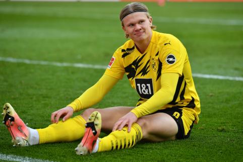 """""""Borussia"""" paskelbė E. Haalando kainą"""