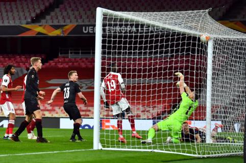 """EL: """"Man Utd"""" žengė tvirtą žingsnį pusfinalio link, """"Arsenal"""" namuose nesugebėjo įveikti """"Slavia"""" ekipos"""