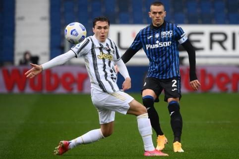 """""""Atalanta"""" minimaliu skirtumu palaužė """"Juventus"""""""