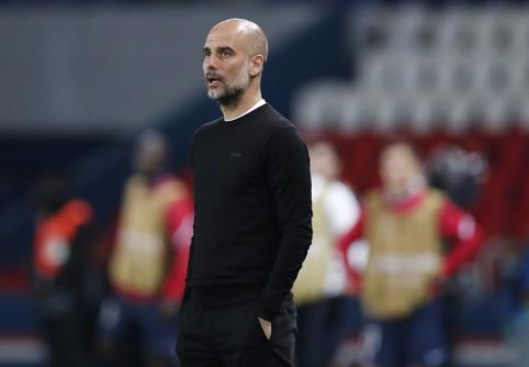 """P. Guardiola: """"Antrosiose rungtynėse gali nutikti bet kas"""""""