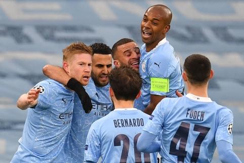 """""""Man City"""" pasiekė Anglijos klubų rekordą Čempionų lygoje"""