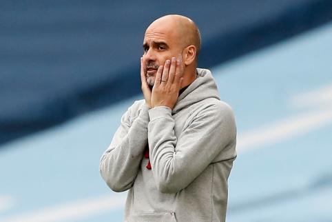 P. Guardiola įsitikinęs, kad pastarieji pralaimėjimai nepaveiks Čempionų lygos finalo