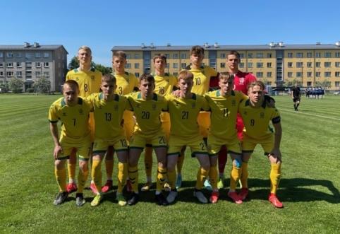 Vaikinų U-19 rinktinė su estais išsiskyrė taikiai