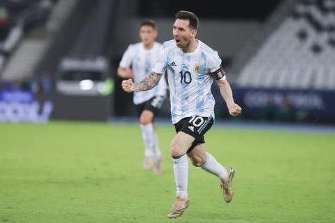 Argentinos triumfas: juokingas vartininko veiksmas, L. Messi kraujas ir skanduotė