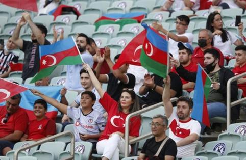 30 tūkstančių Turkijos fanų Baku: Turkija – Velsas