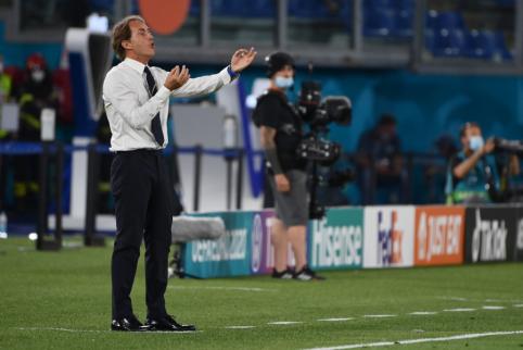R. Mancini: mano žaidėjams turėtų būti skiriami visi nuopelnai