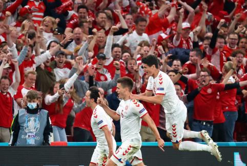 Danai sutriuškino rusus ir žengė į EURO 2020 aštuntfinalį