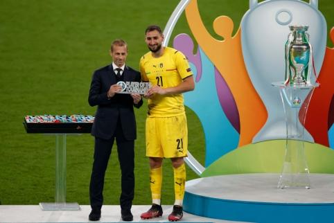 G. Donnarumma pripažintas geriausiu EURO 2020 futbolininku