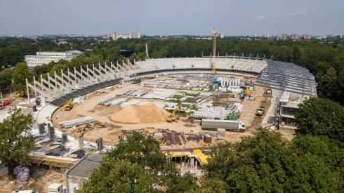 Paviešintos naujausios rekonstruojamo Kauno stadiono nuotraukos