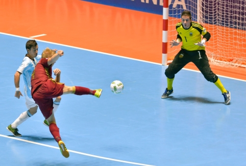 Devintoji Futsal čempionato diena: savo lygį demonstruos Argentina