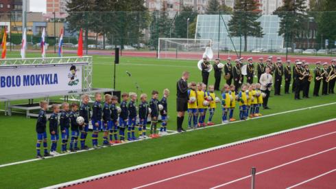Atidaryta atnaujinta Klaipėdos futbolo mokykla