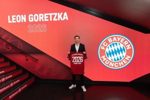 "L. Goretzka pratęsė sutartį su ""Bayern"" iki 2026 metų"