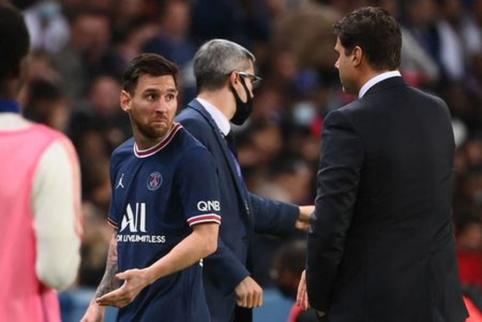 Akibrokštas Paryžiuje: L. Messi po keitimo nesutiko paduoti rankos treneriui M. Pochettino