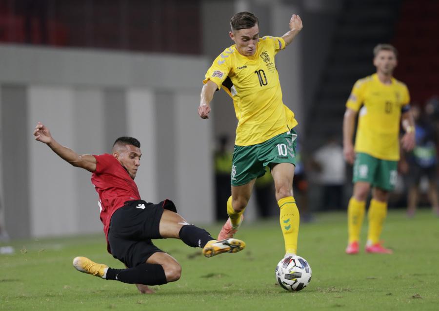 Lietuvos rinktinė įveikė Albaniją