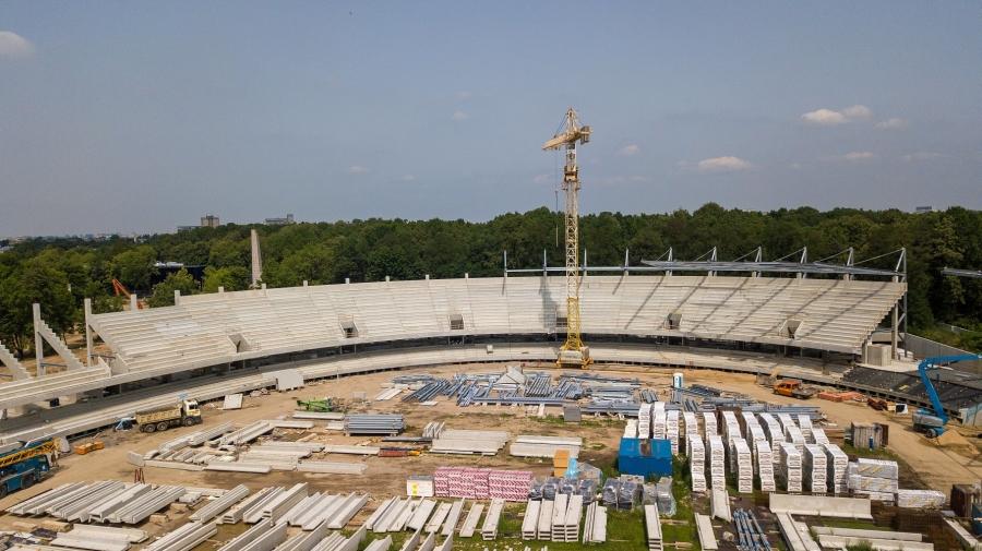Rekonstruojamas Kauno stadionas