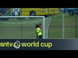 Brazilų rinktinės treniruotėje - Williano trauma