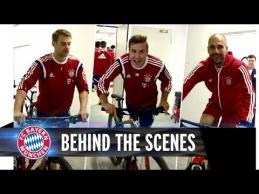 """""""Bayern"""" žvaigždės važinėjosi dviračiais požeminėje aikštelėje"""