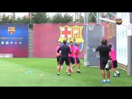"""""""Barcelona"""" treniruotėje - neįprastas krepšinis"""