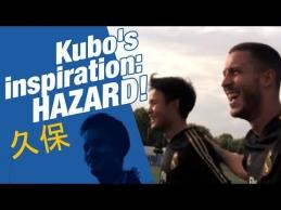 """E. Hazardas įkvepia jaunuosius """"Real"""" futbolininkus"""